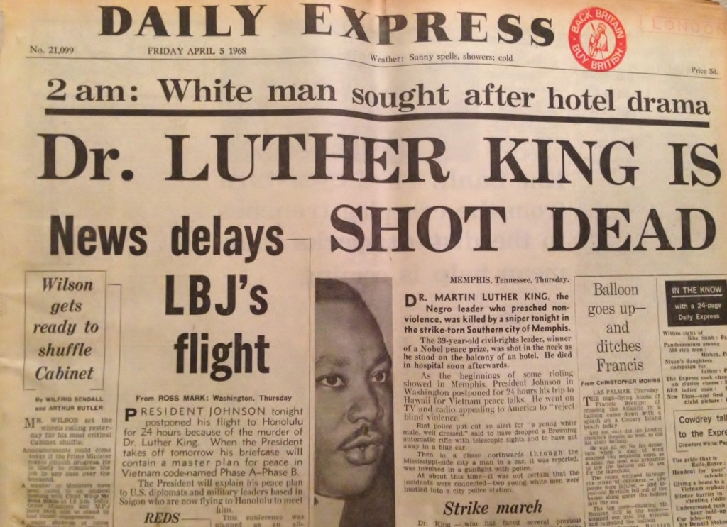 Martin-Luther-King-Headlines-Assassinated