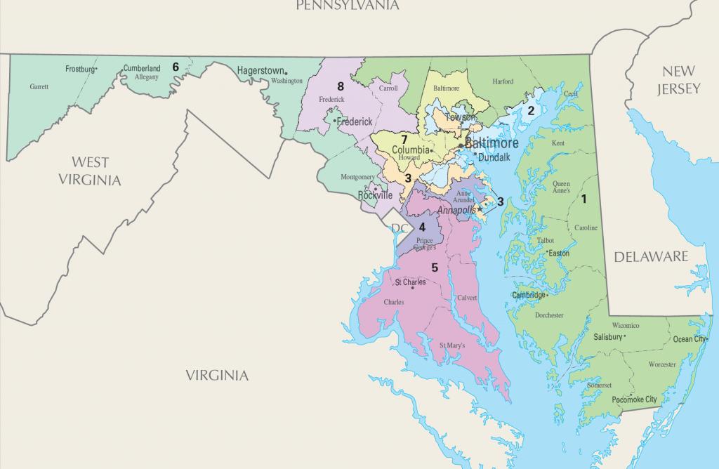 马州国会8个选区地图
