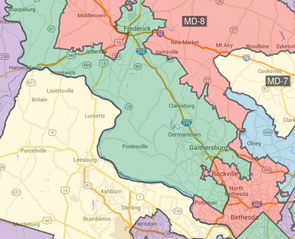 红色:第8选区,绿色:第6选区