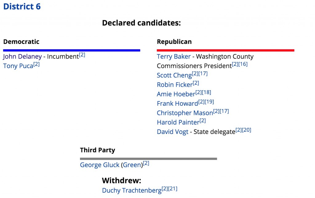 第六选区候选人