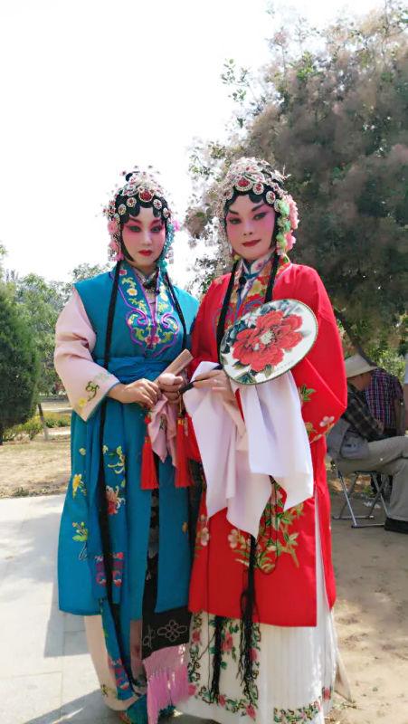 王芳(穿红者)和买广华搭档演《表花》