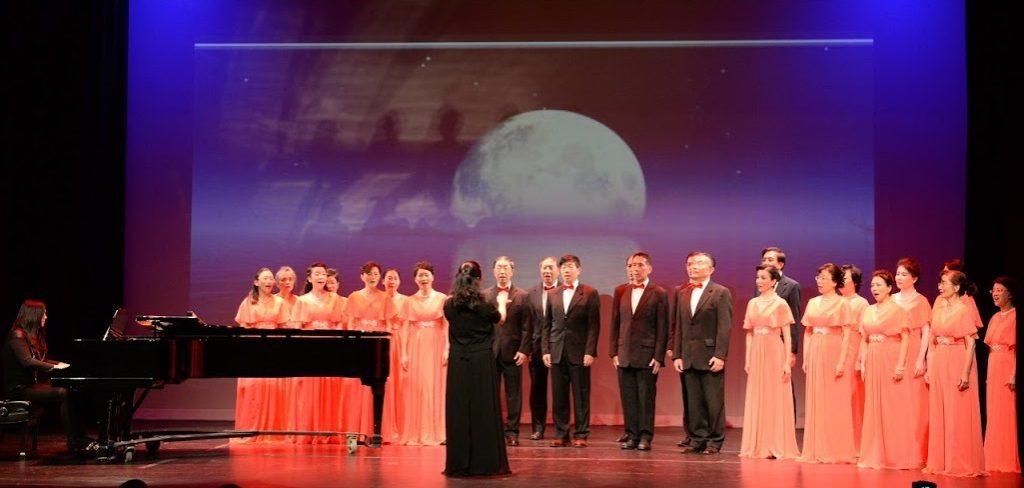 华盛顿中国合唱团表演大合唱